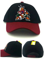 428d51737 Arizona Coyotes New Reebok Phoenix Vintage Original Coyote Black Red Era Hat  Cap