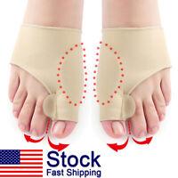 Bunion Gel Socks Orthopedic Sleeve Hallux Valgus Correction Relief Foot Pain New