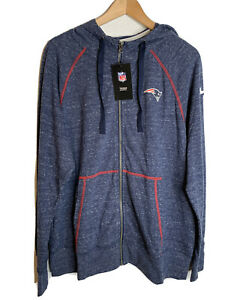 NWT Nike Women's NFL New England Patriots Full-zip Hoodie Lightweight Plus Sz 1x