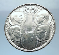 1963 GREECE w PAUL GEORGE I &II ALEXANDER CONSTANTINE Antique Silver Coin i72437