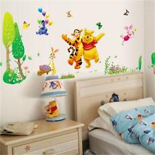Winnie The Pooh Wall Stickers Animal Butterfly Baby  Nursery Room Decal Art