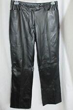 KATHY IRELAND Black PVC Faux Leather Pants Womens Size 12 Biker
