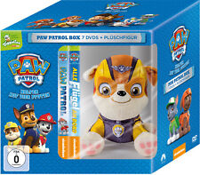 7 DVDs * PAW PATROL BOX - DVD VOL. 1 - 7 (TOGGOLINO) INKL. PLÜSCH HUND RUBBLE