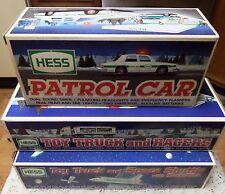 NIP HESS TRUCKs Race Car Carrier Tractor Tailer Racers Shuttle 1993 1997 1999
