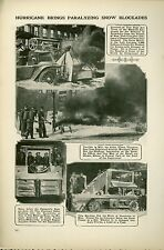 1920 Magazine Article Snow Removal New York City & Atlantic City Storm Damage