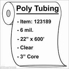 """6 mil Heavy Poly Tubing Roll 22""""x600'  Clear Heat Sealable  123189"""