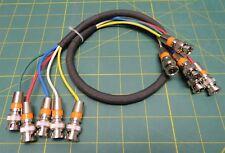 "RGBHV 5-BNC to 5-BNC Male/Male RGBHV High Resolution Video Cable 18"" 1.5 feet"