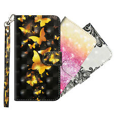 Painting Flip Wallet Card Strap Leather Stand Case Cover For iPhone 11 Pro Max
