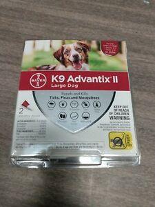 K9 Advantix ll Lg Dog 2 monthly doses spot on treatment 21-55 lbs