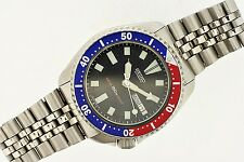 RARE SEIKO 6309 7290 PEPSI SS BAND MENS DIVE WATCH $1