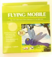 Yard Art OUTDOOR Flying MOBILE Ornament Garden Decoration- Dragonfly -WINGS MOVE