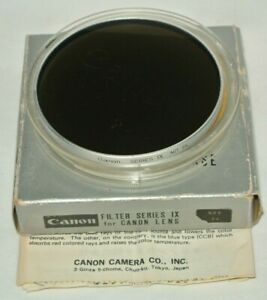 VINTAGE CANON SERIES IX (9) ND 8X GLASS FILTER IN CASE AND BOX, MADE IN JAPAN