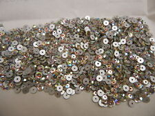 360 preciosa sew on flatbacks(center hole)4mm crystal AB/foiled