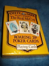 Cutty Sark Scots Whisky Playing Cards Real McCoy Roaring 20's Poker Cards Sealed