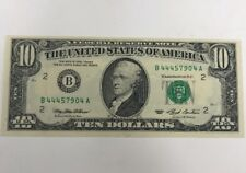 1993 Federal Reserve Note $10 B New York, New York UNCIRCULATED