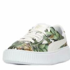 Puma Gold Foil Basket Pineapple Leather Platform Creepers Sneakers Shoes Wm's