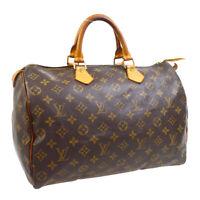 LOUIS VUITTON SPEEDY 35 HAND BAG PURSE MONOGRAM CANVAS TH0063 M41524 30213
