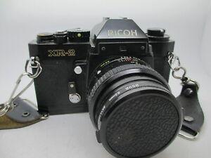 Ricoh XR-2 Black 35mm Film Camera c/w XR Rikenon 50mm 1:2 Lens  - Near Mint