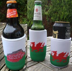 Cymru Wales Welsh Flag Stubby Holder - Can/Bottle Cooler
