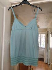 Pretty Roxy Bluey/Green Strappy Top, V Neck, Size S, (8/10) VGC
