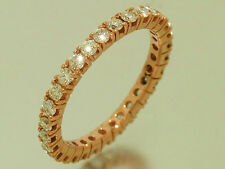 R122- Genuine 9ct Rose Gold Natural Diamond Full Eternity Ring 1.00ct size