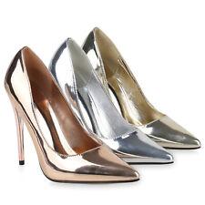 Damen Spitze Pumps Stiletto Party High Heels Metallic Absatzschuhe 832060 Schuhe