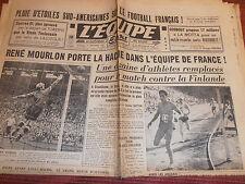 L'EQUIPE FOOTBALL MOURLON EQUIPE DE FRANCE - LILLE / REIMS  1950