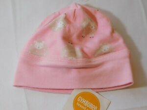 Gymboree Baby Girl's Beanie Hat 0-3 Months 15 GY FEB DRSY CAP Pink Lambs NWT --