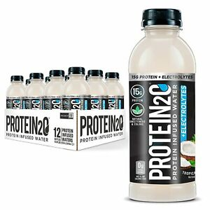 Protein2o Low Calorie Protein Infused Water, 15g Whey Protein Isolate, Tropic...