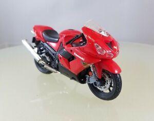 Maisto Fresh Metal Kawasaki ZX-14 Motorcycle, Red - 1:18 Scale