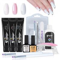 3 Colors 15ml Poly UV Gel Nail Art DIY Extension Crystal Building Gel Kits 13pcs