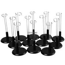 "Black Adjustable Doll Stand 12 Pack Doll Display Holder For 8"" Barbies Dolls USA"