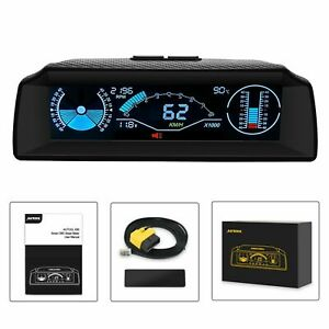Car Speedometer Slope Meter Code Clear Inclinometer Compass Head Up Display HUD