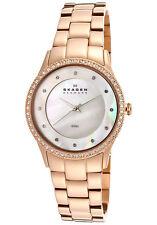 ** nuevo ** SKAGEN Señoras Reloj de cristal fregona oro rosa 347SRXR - - RRP £ 169