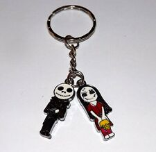 HANDMADE CARTOON JACK & SALLY NIGHTMARE BEFORE CHRISTMAS KEYRING