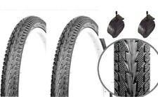 "2 x Fast Rolling Semi Slick  26"" x 1.75"" Mountain Bike Road Tyres + Tubes (Pair)"