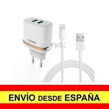 Cargador Pared LDNIO Doble 2 Puertos USB 2,4A más Cable Valido para iPhone a1139