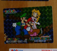 SUPER MARIO WORLD BANPRESTO CARDDASS CARD PRISM CARTE 3 NITENDO JAPAN 1993 **
