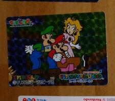 SUPER MARIO WORLD BANPRESTO CARDDASS CARD PRISM CARTE 3 NITENDO JAPAN 1993 **