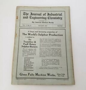 The Journal of Industrial and Engineering Chemistry Magazine August 1915 USA