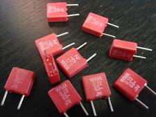Condensador Wima 220nf 63v = mini RM rojo = 5mm 10x 25618