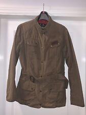 Barbour Vintage International Jacket With Union Jack Lining W 14 Olive Green