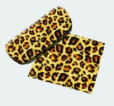 Leopard Animal Print Eyeglass Case & Soft Cleaning Cloth, NEW #13651 Spoontiques