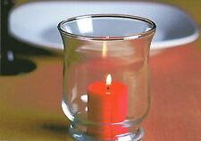 """1-Hurricane Candle Holder-Clear Glass For 2"""" x 3"""" Pillar Candle & Votive Candles"""