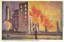 San Francisco Earthquake Fire Disaster Market Street 1906 Postcard