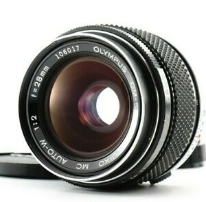 Exc Olympus OM-System Zuiko MC Auto-W 28mm f/2 Wide Angle Lens From Japan