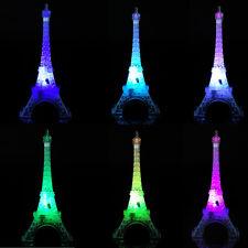 Romantic Eiffel Tower Colorful LED Night Light Desk Wedding Bedroom Table Lamp