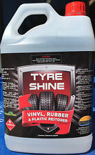 TYRE SHINE, Tyre Gloss, Tyre Silicone, Tire Shine, Professional Strength 5 Lt...