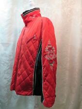 $700 STUNNING Red Roses Bogner (Goan Thylmann) Women's Ski Jacket -Size 14 !!