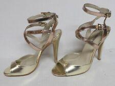 SHOEMINT WOMEN'S SIZE 6 GOLD PUMPS HIGH HEEL SANDALS SHOES PROM PARTY
